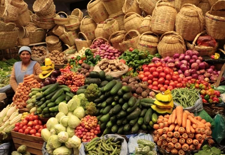 marché de Sucre, ville de bolivie