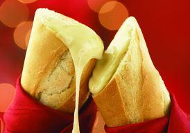 fondue dans le pain