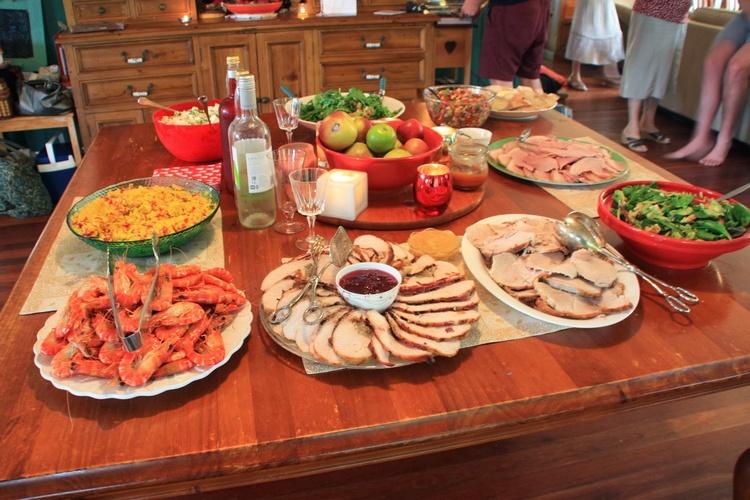 Repas traditionnel de noel en nouvelle zelande
