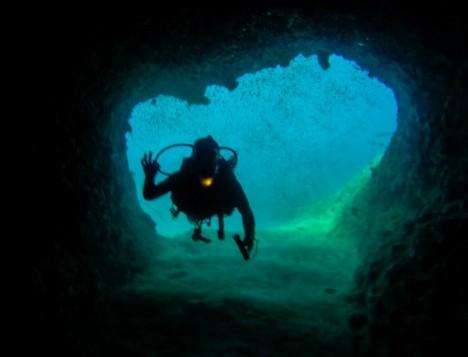 plongée en cave