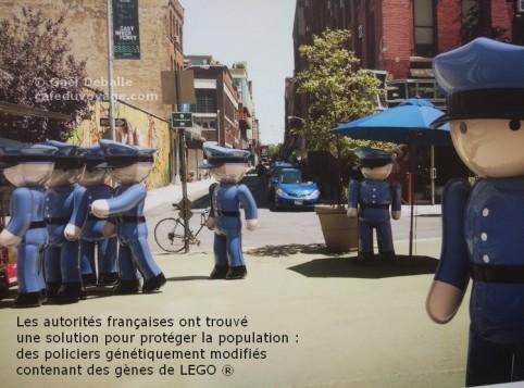 policier lego en ville