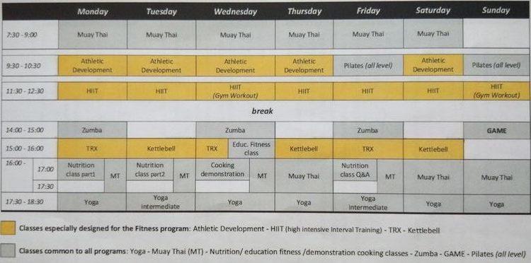 phuketfit programme